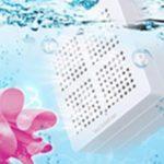 水の電気分解で洗浄して99.98%除菌!旅行に携帯できる洗剤不要のポータブル洗濯機